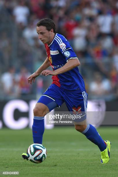 Luca Zuffi of FC Basel in action during the Raiffeisen Super League match between FC Basel and FC Zurich at St JakobPark on August 9 2014 in Basel...