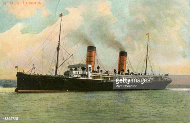 RMS 'Lucania' c1905 The 'Lucania' was a liner operated by the Cunard Line between 1893 and 1909 She held the Blue Riband from 1893 until 1898 The...