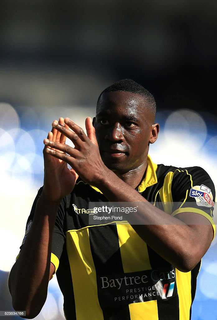 Lucas Akins of Burton Albion celebrates victory after the Sky Bet League One match between Colchester United and Burton Albion at Colchester Community Stadium on April 23, 2016 in Colchester, England.