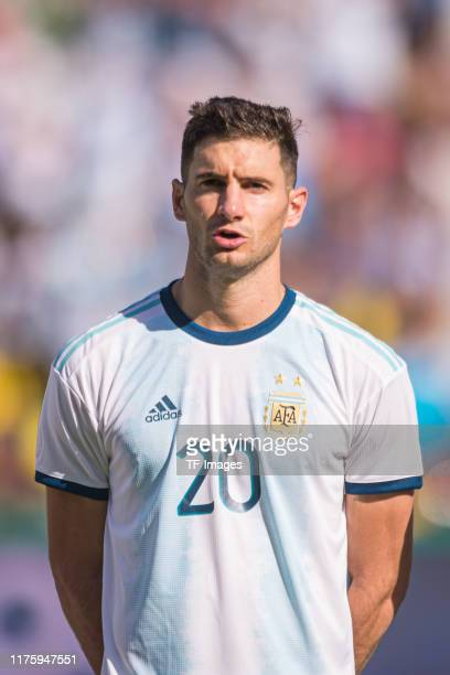 Lucas Alario of Argentina looks on during the UEFA Euro 2020 qualifier between Ecuador and Argentina on October 13, 2019 in Elche, Spain.