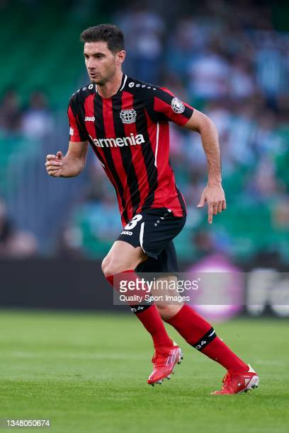 Lucas Alario of Bayer Leverkusen looks on during the UEFA Europa League group G match between Real Betis and Bayer Leverkusen at Estadio Benito...