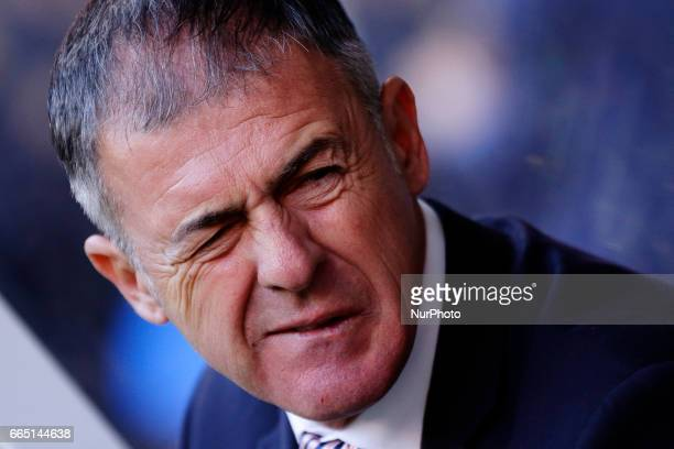 Lucas Alcaraz manager of Granada CF during the La Liga Santander match between Deportivo de La Coruña and Granada CF at Riazor Stadium on April 5...