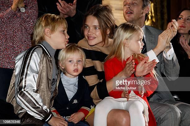 Lucas Alexander Portman Victor Portman Natalia Vodianova Neva Portman and Alishdair Willis attend during the Stella McCartney Ready to Wear...