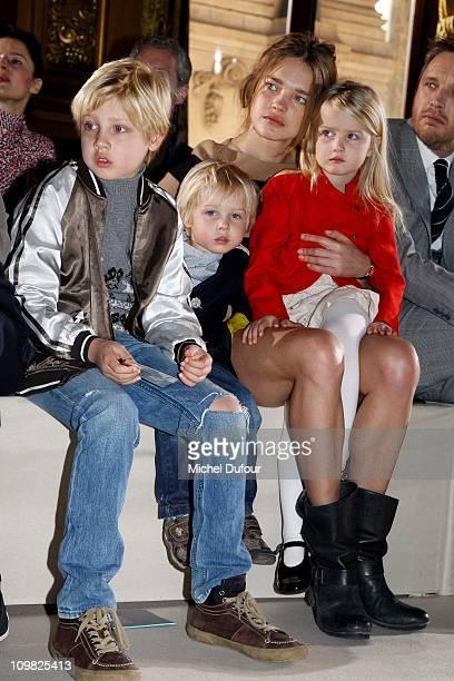 Lucas Alexander Portman Victor Portman Natalia Vodianova Neva Portman and Alishdair Willis attends during the Stella McCartney Ready to Wear...