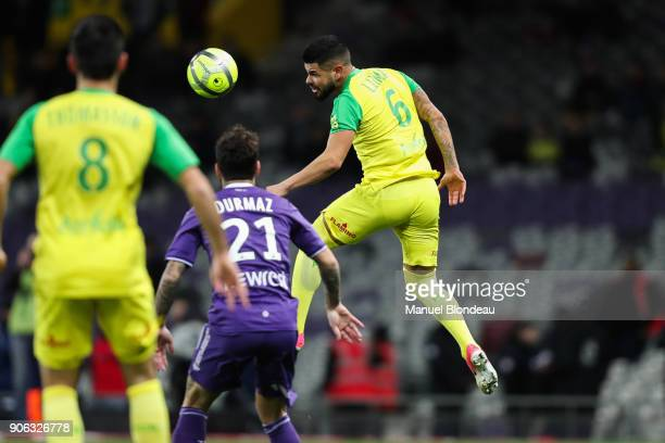 Lucas Alves of Nantes during the Ligue 1 match between Toulouse and Nantes at Stadium Municipal on January 17 2018 in Toulouse