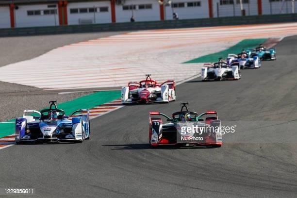 Lucas , Audi Sport ABT Schaeffler, Audi e-ton FE07, action and 27 DENNIS Jake , BMW i Andretti Motorsport, BMW iFE.21, action during the ABB Formula...