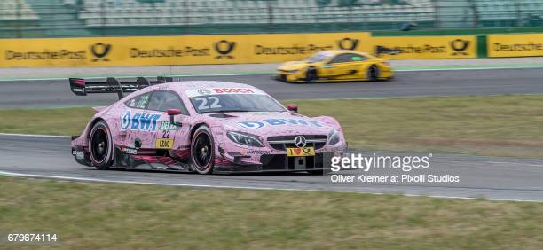 Lucas Auer of MercedesAMG DTM Team HWA on his way to win during the DTM Race Session 1 at the Hockenheimring during Day 0 of the DTM German Touring...