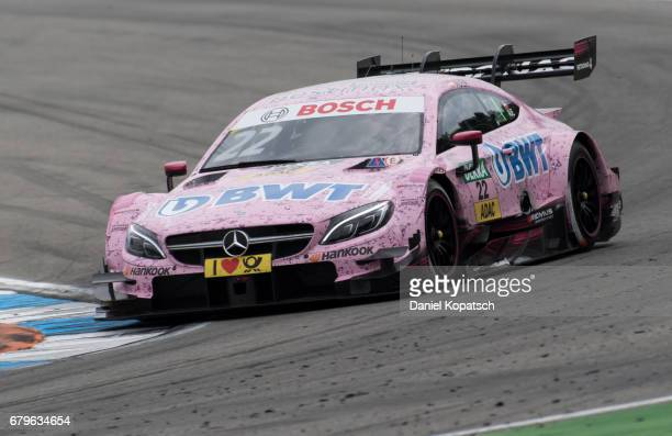 Lucas Auer of MercedesAMG Motorsport BWT in action during race 1 of the DTM German Touring Car Hockenheim at Hockenheimring on May 6 2017 in...