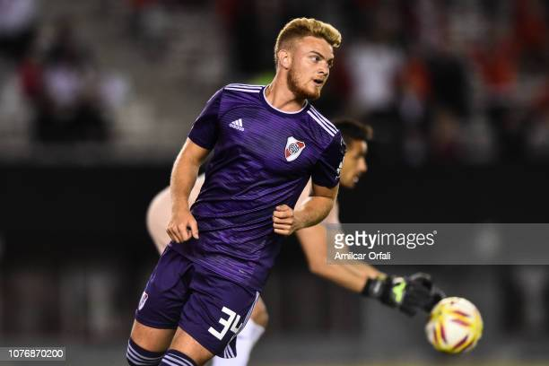 Lucas Beltrán of River Plate looks on during a match between River Plate and Gimnasia y Esgrima La Plata as part of Superliga 2018/19 at Estadio...
