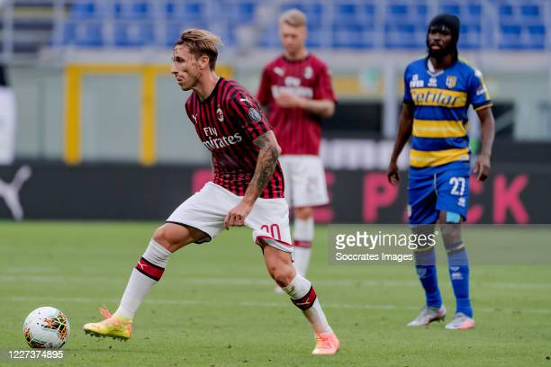 Lucas Biglia of AC Milan during the Italian Serie A match between AC Milan v Parma on July 15, 2020