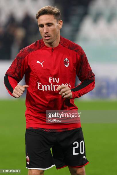 Lucas Biglia of AC Milan during the Serie A football match between Juventus FC and AC Milan at Allianz Stadium on November 10, 2019 in Turin, Italy....