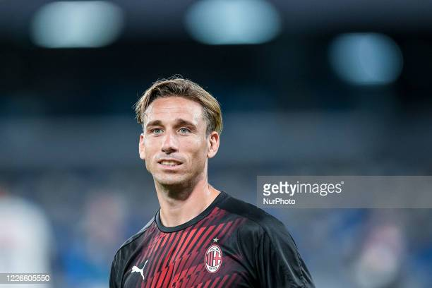 Lucas Biglia of AC Milan during the Serie A match between Napoli and AC Milan at Stadio San Paolo, Naples, Italy on 12 July 2020.