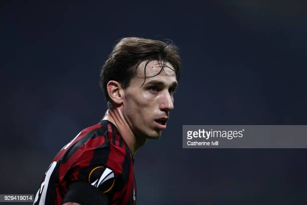 Lucas Biglia of AC Milan during the UEFA Europa League Round of 16 match between AC Milan and Arsenal at the San Siro on March 8 2018 in Milan Italy