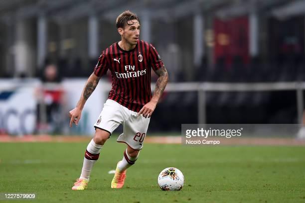 Lucas Biglia of AC Milan in action during the Serie A football match between AC Milan and Parma Calcio. AC Milan won 3-1 over Parma Calcio.