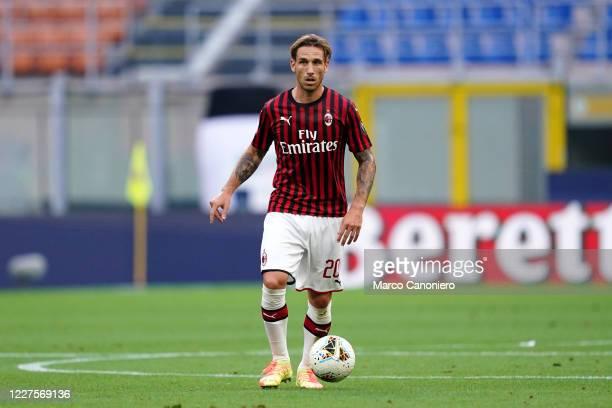 Lucas Biglia of Ac Milan in action during the Serie A match between Ac Milan and Parma Calcio. Ac Milan wins 3-1 over Parma Calcio.