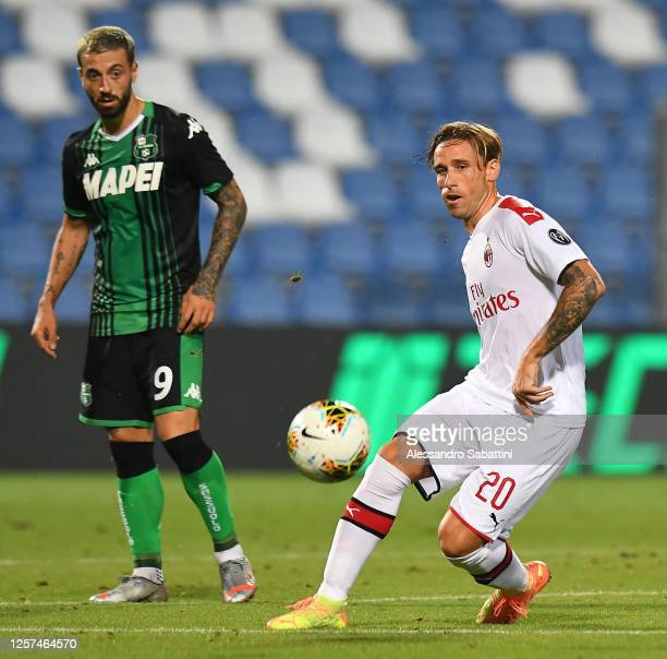 Lucas Biglia of AC Milan in action during the Serie A match between US Sassuolo and AC Milan at Mapei Stadium - Città del Tricolore on July 21, 2020...