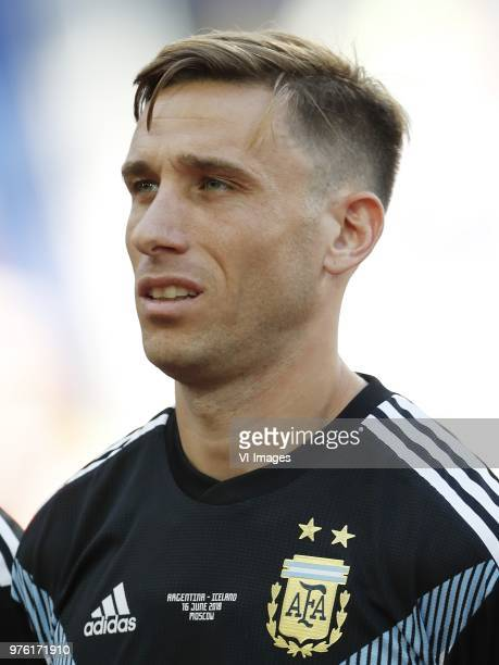 Lucas Biglia of Argentina during the 2018 FIFA World Cup Russia group D match between Argentina and Iceland at the Spartak Stadium on June 16 2018 in...