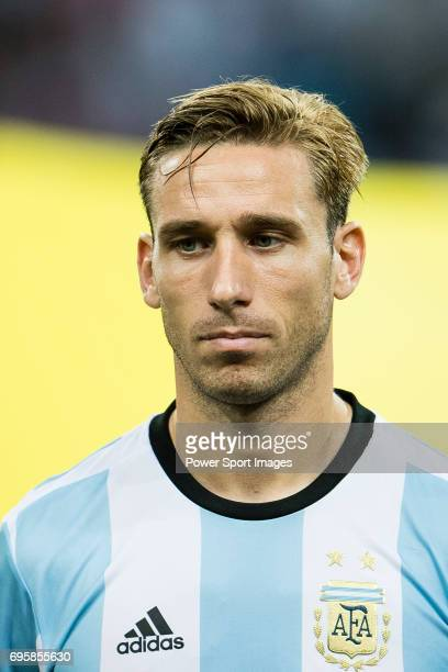 Lucas Biglia of Argentina during the International Test match between Argentina and Singapore at National Stadium on June 13 2017 in Singapore