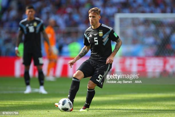 Lucas Biglia of Argentina in action during the 2018 FIFA World Cup Russia group D match between Argentina and Iceland at Spartak Stadium on June 16...