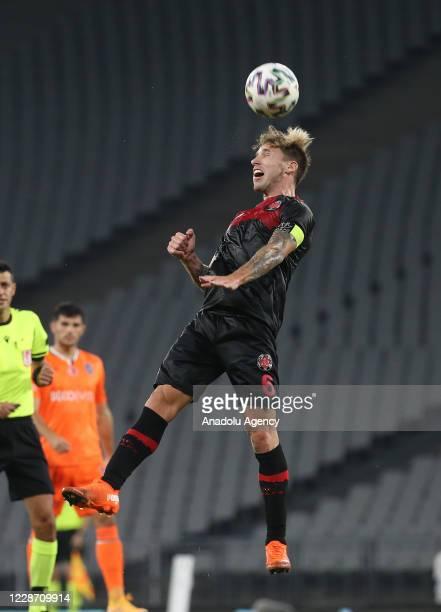 Lucas Biglia of Fatih Karagumruk in action during the Turkish Super Lig week 3 football match between Fatih Karagumruk and Medipol Basaksehir in...