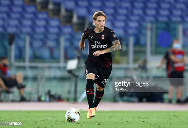 Lucas Biglia of Milan during the football Serie A match SS Lazio v AC Milan at the Olimpico Stadium in Rome, Italy on July 4, 2020