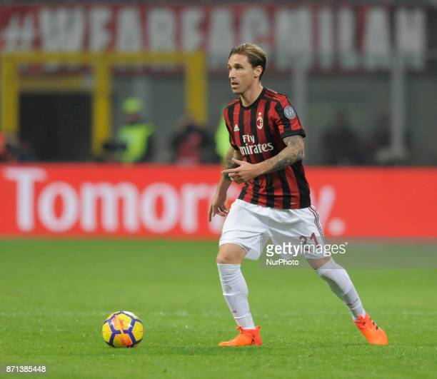 Lucas Biglia of Milan player during the match valid for Italian Football Championships Serie A 20172018 between AC Milan and FC Juventus at San Siro...