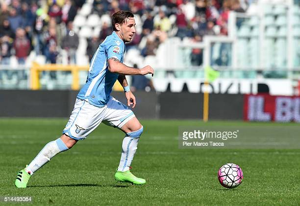 Lucas Biglia of SS Lazio in action during the Serie A match between Torino FC and SS Lazio at Stadio Olimpico di Torino on March 6 2016 in Turin Italy