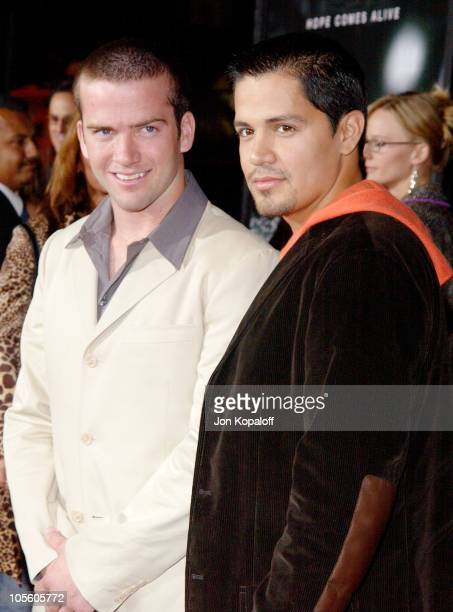 Lucas Black and Jay Hernandez during Friday Night Lights World Premiere at Grauman's Chinese Theatre in Hollywood California United States