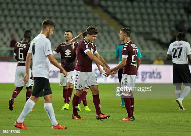 Lucas Boy after the fourth goal of Torino team during Tim Cup 20162017 match between Torino FC and FC Pro Vercelli at the Olympic Stadium of Turin on...