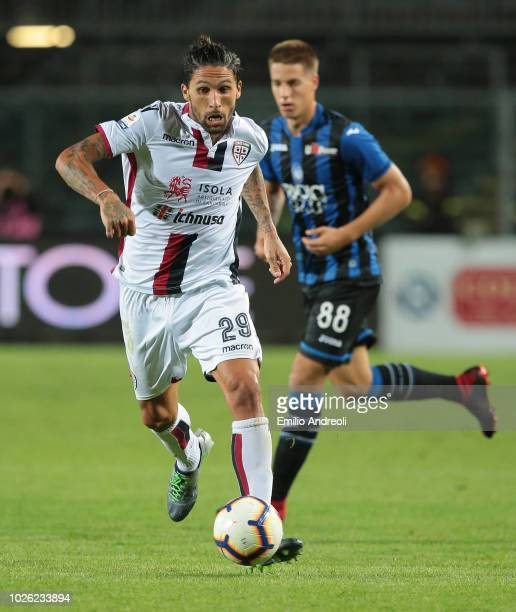 Lucas Castro of Cagliari Calcio in action during the serie A match between Atalanta BC and Cagliari at Stadio Atleti Azzurri d'Italia on September 2...