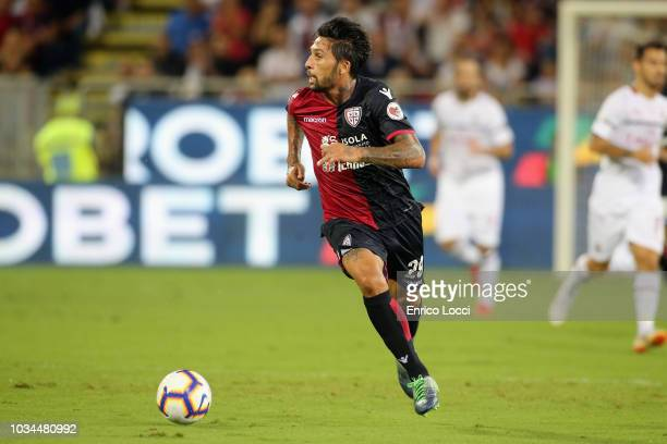 Lucas Castro of Cagliari in action during the serie A match between Cagliari and AC Milan at Sardegna Arena on September 16 2018 in Cagliari Italy
