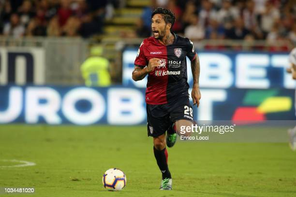 Lucas Castro of Cagliari in action during the serie A match between Cagliari and AC Milan at Sardegna Arena on September 16, 2018 in Cagliari, Italy.