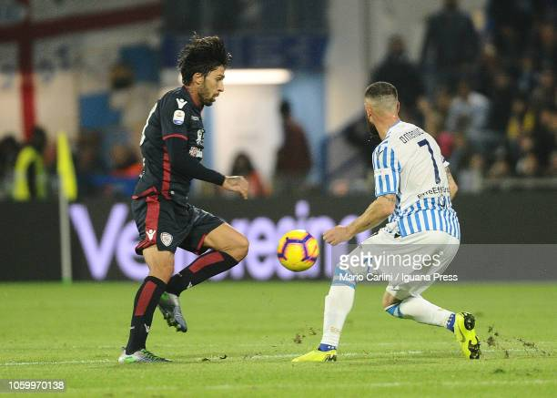 Lucas Castro of Cagliari in action during the Serie A match between SPAL and Cagliari at Stadio Paolo Mazza on November 11 2018 in Ferrara Italy