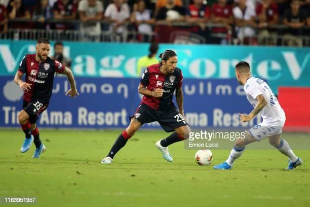 Lucas Castro of Cagliari in action during the Serie A match between Cagliari Calcio and Brescia Calcio at Sardegna Arena on August 25 2019 in...