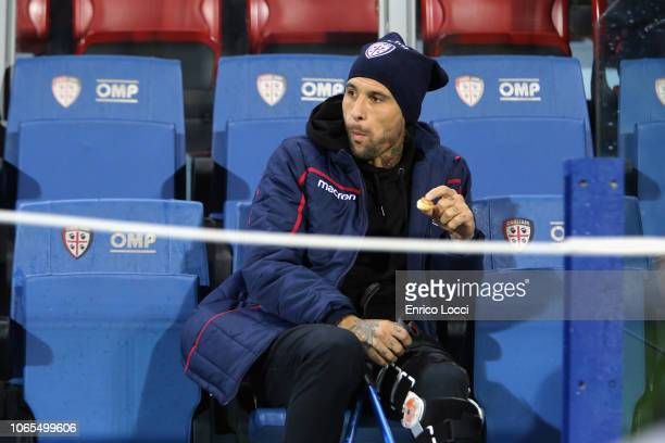 Lucas Castro of Cagliari looks on during the Serie A match between Cagliari and Torino FC at Sardegna Arena on November 26 2018 in Cagliari Italy