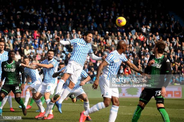Lucas Castro of SPAL heds the ball during the Serie A match between SPAL and US Sassuolo at Stadio Paolo Mazza on February 09 2020 in Ferrara Italy