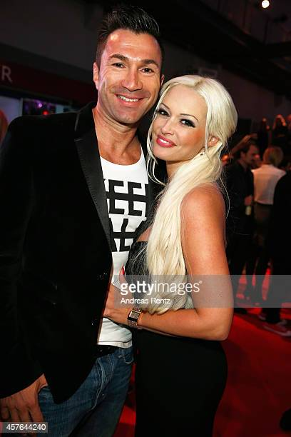 Lucas Cordalis and Daniela Katzenberger attend the 18th Annual German Comedy Awards at Coloneum on October 21 2014 in Cologne Germany The show will...