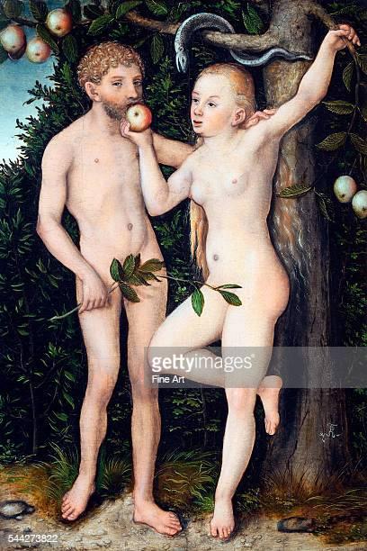 Lucas Cranach the Elder Adam and Eve 15389 oil on panel 49 × 39 cm National Gallery Prague Czech Republic