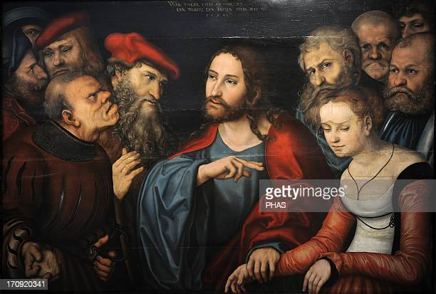 Lucas Cranach the Elder German painter Christ and the Adulteress Museum of Fine Arts Budapest Hungary