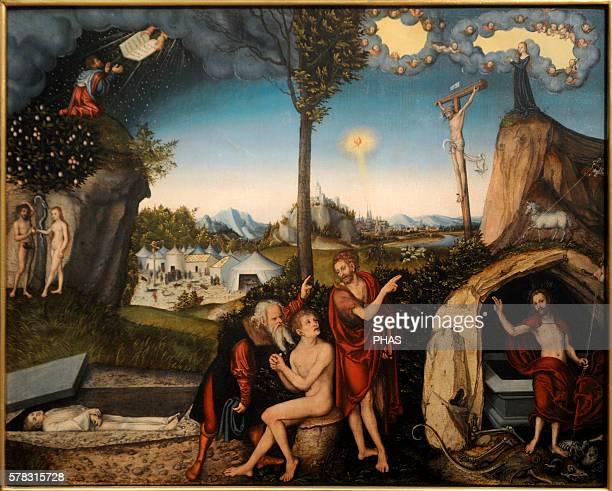 Lucas Cranach the Elder German painter The Law and The Gospel 1529 National Gallery Prague Czech Republic