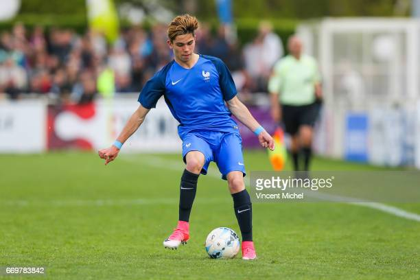 Lucas Da Cunha of France during the U16 Mondial football Final match between France U16 and Portugal U16 on April 17 2017 in Montaigu France
