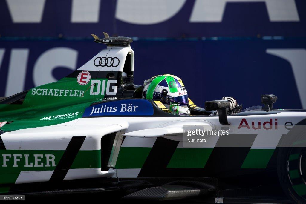 Lucas Di Grassi of Audi Sport Racing during Rome E-Prix Round 7 as part of the ABB FIA Formula E Championship on April 14, 2018 in Rome, Italy.