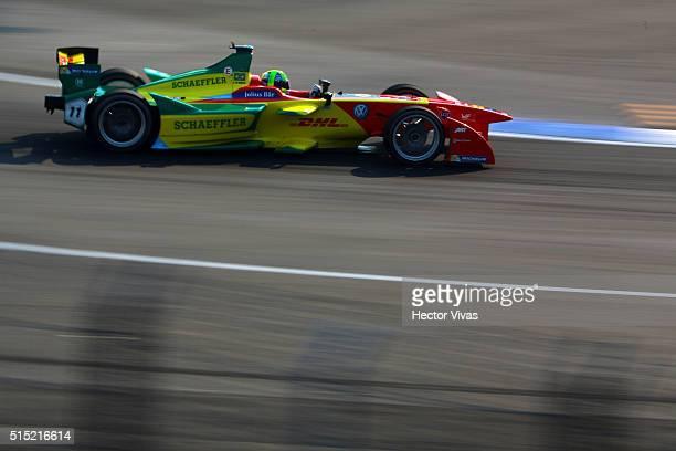 Lucas di Grassi of Brazil and ABT Schaeffler Audi Sport during the Mexico City Formula E Championship 2016 at Autodromo Hermanos Rodriguez on...