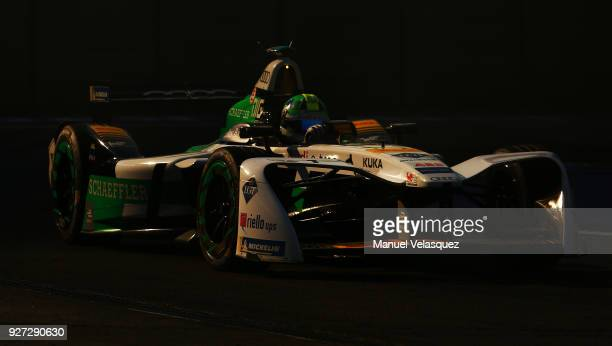 Lucas Di Grassi of Brazil and Audi Sport Abt Schaeffler competes during the Mexico EPrix as part of the Formula E Championship at Autodromo Hermanos...