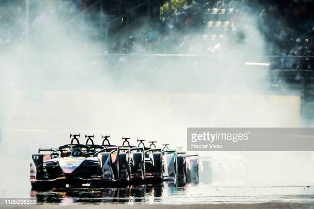 Lucas Di Grassi of Brazil drives the Audi Sport ABT Schaeffler during the 2019 Mexico City EPrix on February 16 2019 in Mexico City Mexico