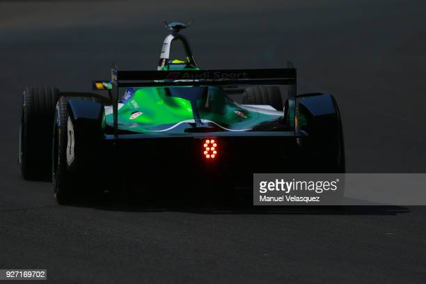 Lucas Di Grassi of Brazil from Audi Sport ABT Schaeffler drives during the Mexico EPrix as part of the Formula E Championship at Autodromo Hermanos...