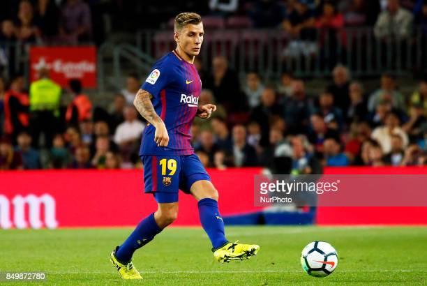 Lucas Digne during La Liga match between FC Barcelona v SC Eibar in Barcelona on September 19 2017