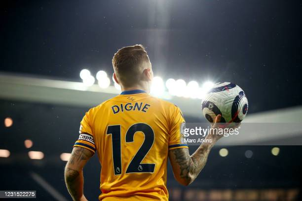 Lucas Digne of Everton during the Premier League match between West Bromwich Albion and Everton at The Hawthorns on March 4, 2021 in West Bromwich,...