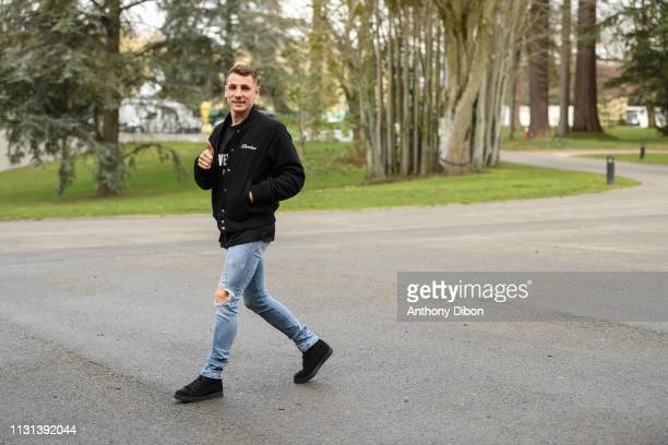 Lucas Digne of France arrives at on March 18 2019 in ClairefontaineenYvelines France