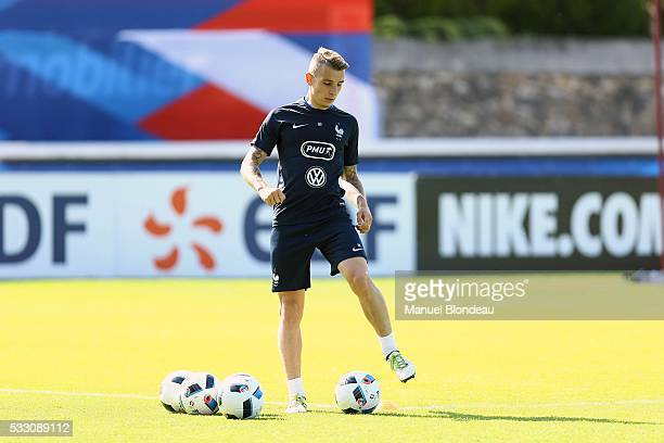 Lucas Digne of France during a training session during the preparation on the French football Team for Euro 2016 on May 20 2016 in Biarritz France